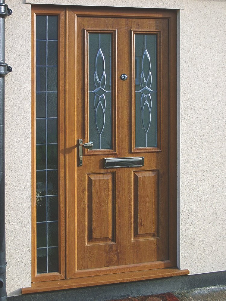 Brown UPVC Front Door In Essex