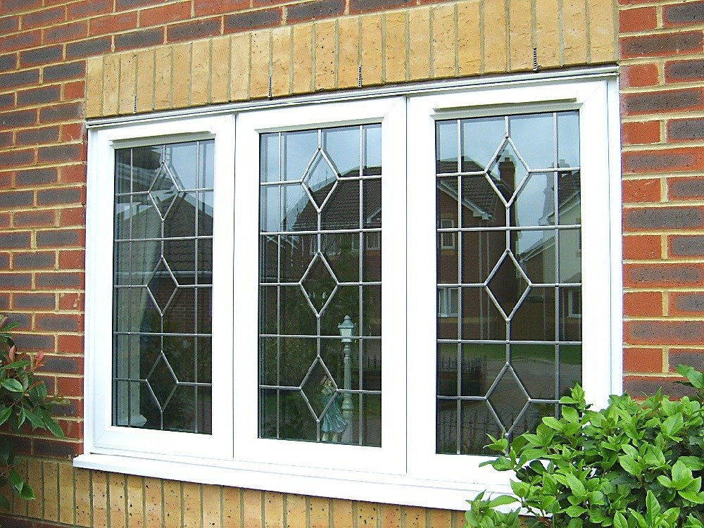 UPVC Diamond Pattern Windows
