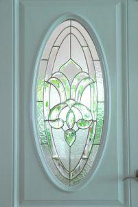 Bevelled glazed door